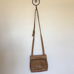 Brown Leather Fossil Crossbody Purse